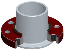 lap joint flange with outline