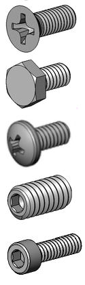 Zirconium Screws