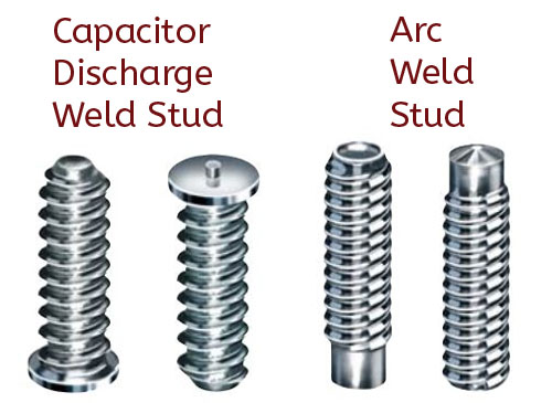 Weld studs arc and capacitor text